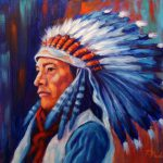 Daily Painters California Western Art Native American Portrait Painting Theresa