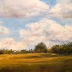 Daily Painting Projects Country Sky Oil Landscape Art Fields Trees Clouds