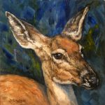 Daily Painting Projects Doe Portrait Oil Deer Art Wildlife