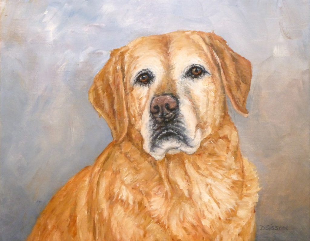 Daily Painting Projects Gunnyr Commissioned Oil Dog Pet Art Yellow