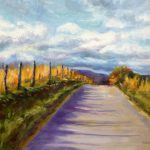 Daily Painting Projects Open Country Road Oil Landscape Art Fields Sky Clouds