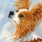 Daily Painting Projects Papillon Portrait Oil Dog Art