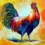 Daily Paintings Fine Art S Marcia Baldwin Red Wing Rooster Commissioned