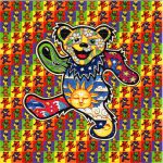 Dancing Bears Blotter Art Psychedelic Perforated Lsd Acid