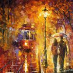 Date Trolley Oil Painting Canvas Leonid