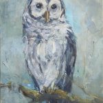 Deb Kirkeeide Waiting Edge Dusk Barred Owl