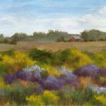 Debbie Shirley Art Further Afield Small Acrylic Landscape Painting