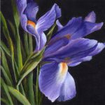 Debbie Shirley Art Nature Offering Small Floral Painting Purple