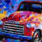 Debra Hurd Original Paintings Jazz Art Antique Old Truck Impressionist Colorful