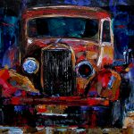 Debra Hurd Original Paintings Jazz Art Old Truck Painting