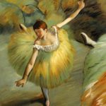 Degas Dancer Tilting Traditional Paintings