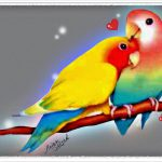 Digital Painting Love Birds