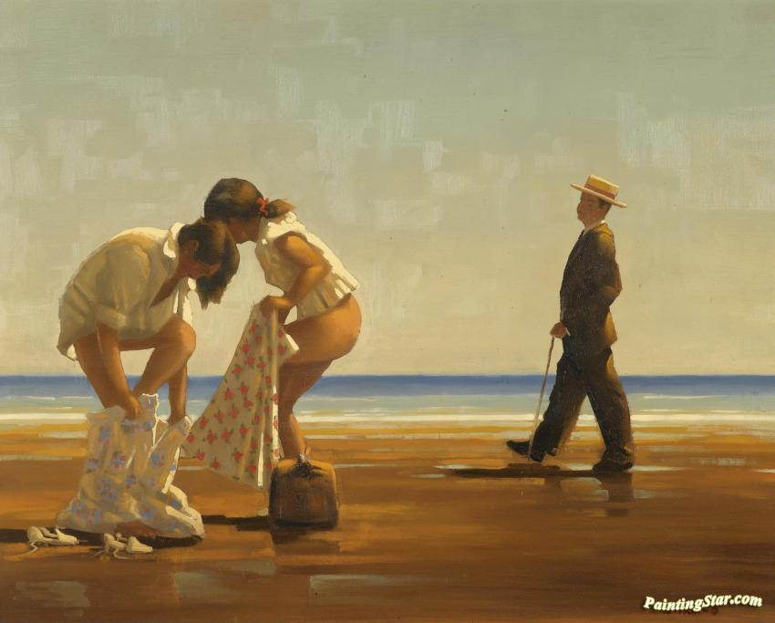 Discovered Artwork Jack Vettriano Oil Painting Art Prints Canvas Sale