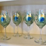 Diy Hand Painted Wine Glasses Peacock Feather Design Tutorial