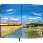 Documented Two Years Travel Painting Moleskine Notebook Bored
