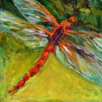Dragonfly Amber Painting Nanci