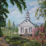 Drawings Old Country Churches Landscapes Art Church Oil Painting