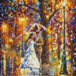 Dream Wedding Palette Knife Oil Painting Canvas Leonid