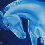 Dreamy Blue Horse Painting Jindra