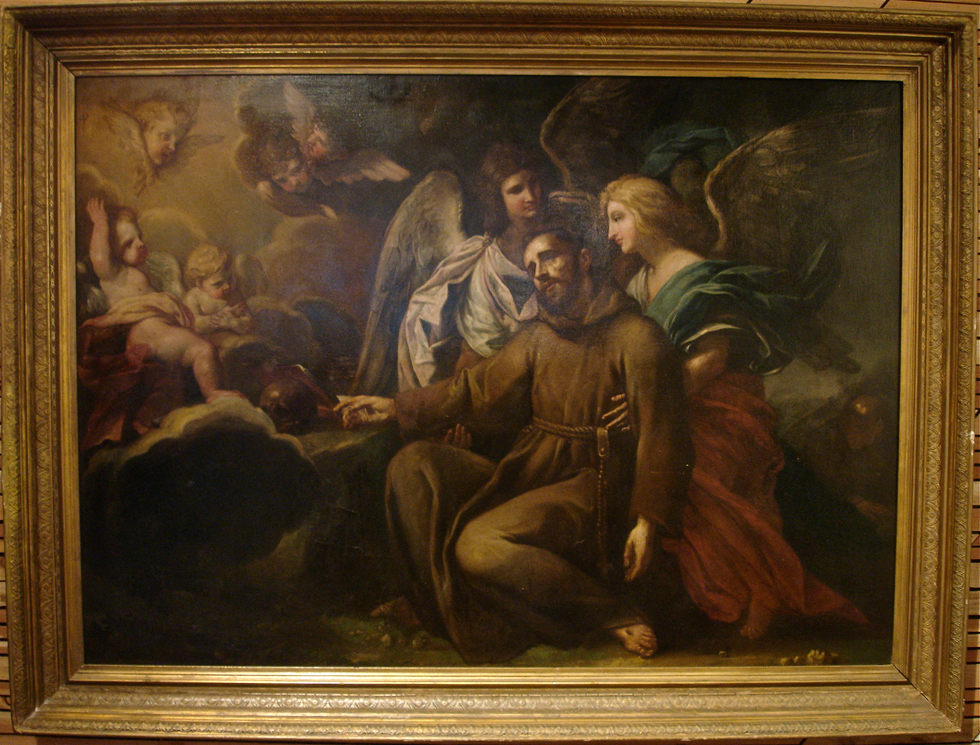 Early Italian Baroque Old Master Painting Francis