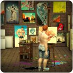 Easel Painting Replacements Sims Custom