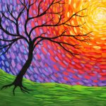 Easy Abstract Tree Painting