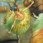 Edgar Degas Dancer Tilting Luxury Line Hand Painted Oil Painting
