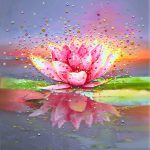 Energy Art Store Julia Watkins Pink Lotus Painting Giclee