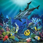 Environmental Ist Apollo Work Illumination Original Painting Acrylic Sea Life
