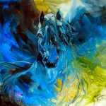 Equus Blue Ghost Painting Marcia