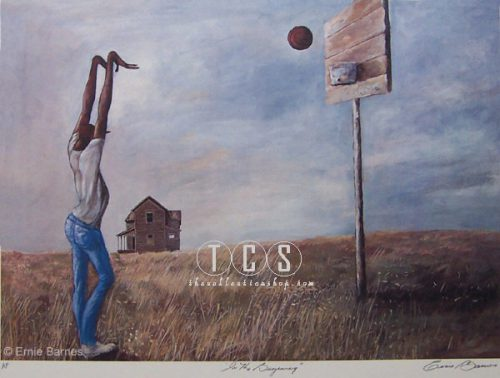 Ernie Barnes Begining Signed Numbered Limited Edition Lithograph African