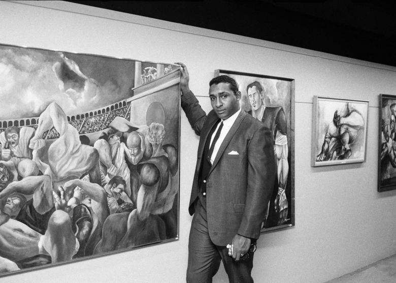 Exhibit Features Ernie Barnes Football Player Turned Artist Seattle