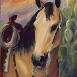 Expensive Hobby Horse Portrait Painting Greeting Card Sale Kim