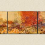 Extra Large Triptych Abstract Art