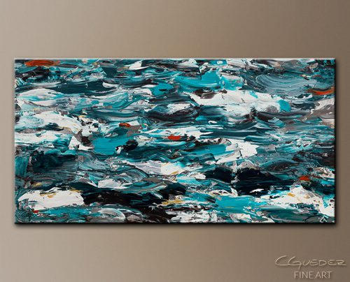 Extra Large Wall Art Aquamarine Adventure Oversized Abstract Sale Teal