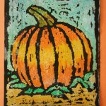 Faithful Attempt Oil Pastel Resist Halloween