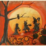 Fall Halloween Painting Cute Children