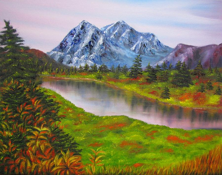 Fall Mountains Landscape Oil Painting Natalja