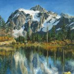 Fall Reflections Cascade Mountains Painting Mary Ellen