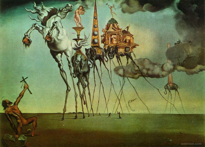 Famous Salvador Dali Paintings Surreal Optical