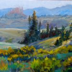 Fantasy Art Illusion Wild West Colorful Colorado Landscape Paintings Tracy