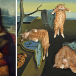 Fat Cat Art Insert Ginger Into Famous Paintings Bored