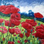 Field Poppies Painting Richard
