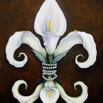 Flower New Orleans White Calla Lilly Painting Judy