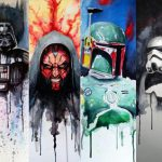 Force Strong Star Wars Painting