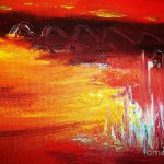 Forest Fire Abstract Painting Rhonda