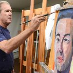 Former President George Bush Appear Today His Portraits Courage