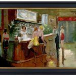 Framed Quality Hand Painted Oil Painting Bar Lounge Restaurant