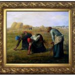 Framed Quality Oil Painting Repro Millet Jean Francois Gleaners