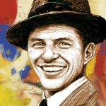 Frank Sinatra Stylised Pop Art Drawing Portrait Poster Kim